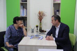 Посета на градоначалникот на општина Аеродром Г-дин Златко Марин на Центарот за сензорна терапија Во Мојот Свет